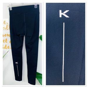 "KORAL High Rise Black Logo Calf Legging 24"" Inseam"